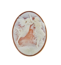 Cameo Pin with two angels 1