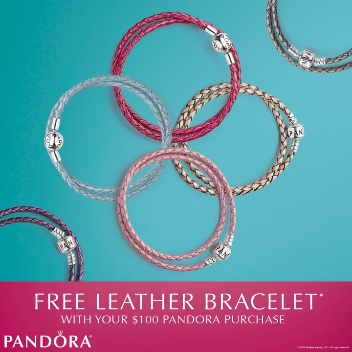 Pandora FREE Leather Bracelet Event Happening NOW!