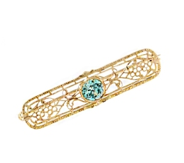 Edwardian-BlueZircon-Gold-Pin