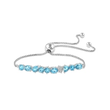 Topaz & Diamond Friendship Bracelet