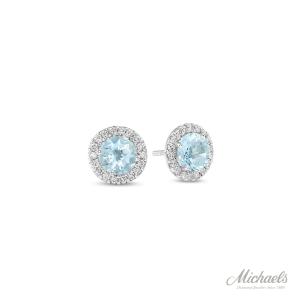 Aquamarine-diamond-earrings
