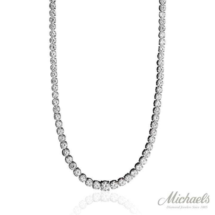 PLATINUM RIVIERA DIAMOND NECKLACE
